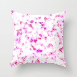 Pink and White Soft Marble Pattern Throw Pillow