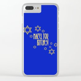 You go, girl! (blue) Clear iPhone Case