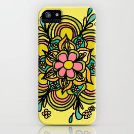 Flower Power Mandala Positive Vibes Flow Freely iPhone Case
