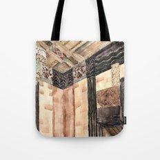 inside the Art Deco spaceship Tote Bag