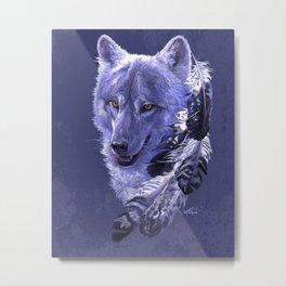 Wolf Spirit Totem Metal Print