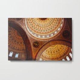 Yeni Camii (New Mosque) Interior - Istanbul Metal Print