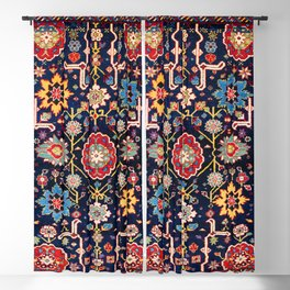 Shirvan Caucasian Afshan Antique Rug Print Blackout Curtain