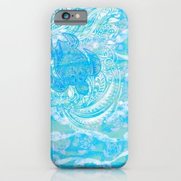 polynesian TURTLE OCEAN spray iPhone Case