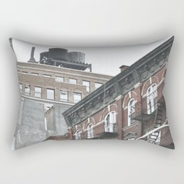 New York City corners, fire escapes, ladders fine art , nyc, America, photo Rectangular Pillow