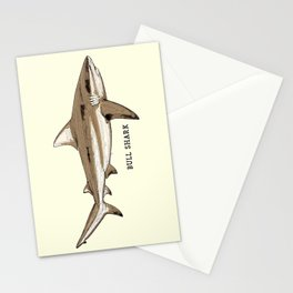 BULL SHARK Vintage Art Sketch for the Ocean Lovers Anglers and Fisherman Stationery Cards