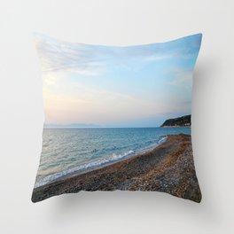 Greek Beach Throw Pillow