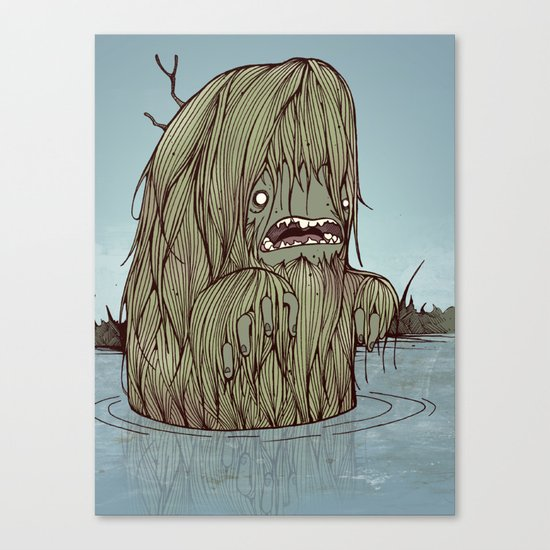 It came from the swamp Canvas Print
