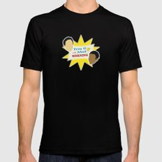 Community Troy & Abed in the Morning Mens Fitted Tee MEDIUM Black