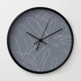 Monstera No2 Gray Edition Wall Clock