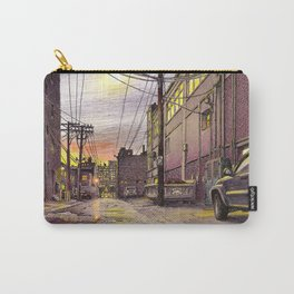 Industrial alley at the sunset Carry-All Pouch