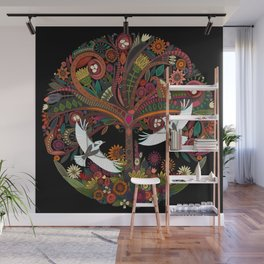tree of life black Wall Mural
