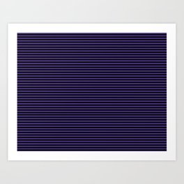Gothic purple stripes Art Print