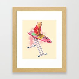 Hoverboard Cat Framed Art Print