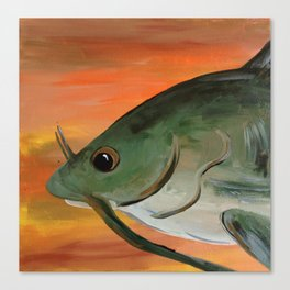 Fish 7: Plunk Canvas Print