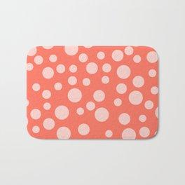 Living Coral Polka Dot Party Bath Mat
