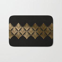Reims, France: Luxueux Black and Gold Art Deco Bath Mat