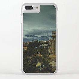 Kathmandu City Roof Top 002 Clear iPhone Case