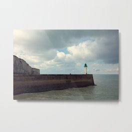 Lighthouse at St. Valery-en-Caux Metal Print