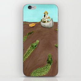 Up a Creek....with a lot of 'gators iPhone Skin