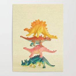 Dinosaur Antics Poster