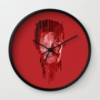 daryl Wall Clocks featuring Daryl by mobokeh