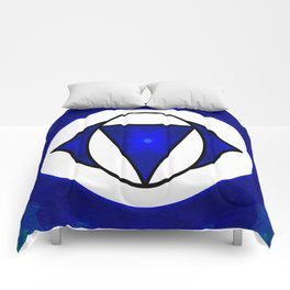 Deep Blue Awareness Abstract Chakra Art  Comforters