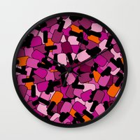 nail polish Wall Clocks featuring Nail Polish by ts55