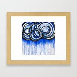 Storm Rain Cloud Framed Art Print