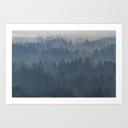Hazy Layers Art Print