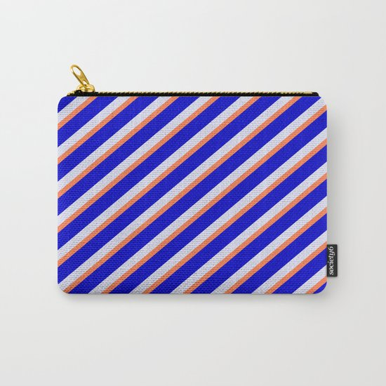 Lavender, Coral & Blue Colored Stripes/Lines Pattern by aponx