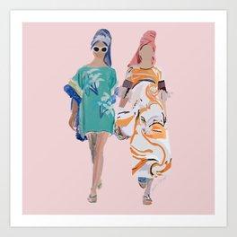 Pool Babes Art Print