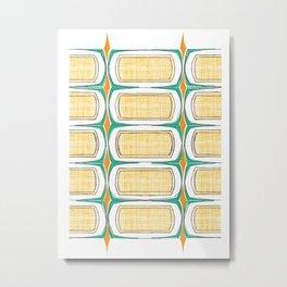 mid mod pattern 3 Metal Print