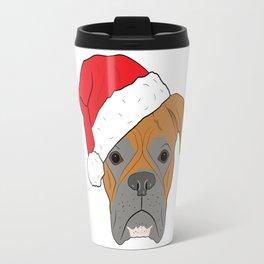 Christmas Festive Boxer dog Travel Mug