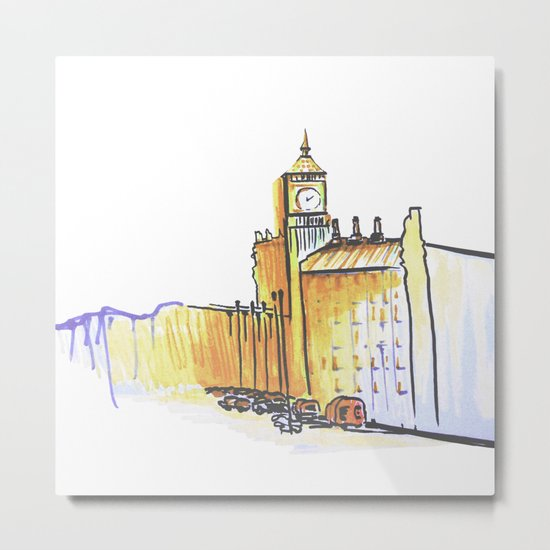 simple London on white background Metal Print