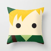 the legend of zelda Throw Pillows featuring Legend Of Zelda Link  by heartfeltdesigns by Telahmarie