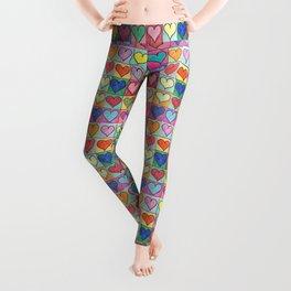 Colorful hearts Leggings