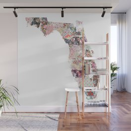 Florida map Wall Mural