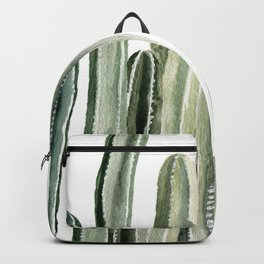 Tall Cacti Watercolor Painting Backpack