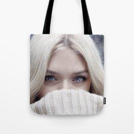 blonde girl eyes Tote Bag