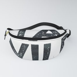 STAY WILD Vintage Black and White Fanny Pack