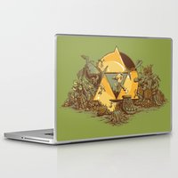 hyrule Laptop & iPad Skins featuring Keep Hyrule Green by TEEvsTEE