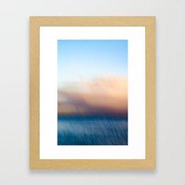 Sunset after the rain Framed Art Print