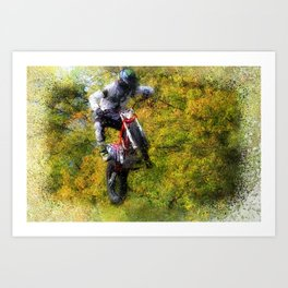 Extreme Biker - Dirt Bike Rider Art Print