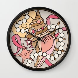 Conch Shell Wall Clock