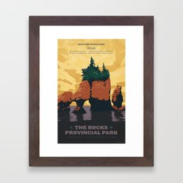 Hopewell Rocks Poster Framed Art Print