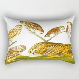 Burrowing Owl Illustration Rectangular Pillow