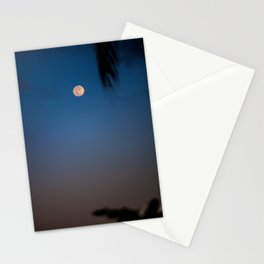 Moonset Over the North Shore Stationery Cards