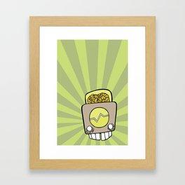 Robot Head One Framed Art Print