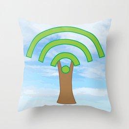 Tree of WiFi Throw Pillow